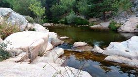 Rzeczny spływanie w parku narodowym Madryt Obraz Royalty Free