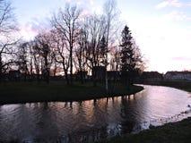 Rzeczny Sysa w Silute, Lithuania Fotografia Royalty Free