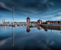 Rzeczny Tawe i Swansea Marina Fotografia Stock