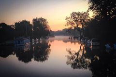Rzeczny Thames, Bóść i Streatley, Obraz Royalty Free