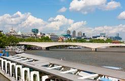 Rzeczny Thames, Londyn, Anglia Zdjęcia Royalty Free
