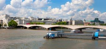 Rzeczny Thames, Londyn, Anglia Obrazy Stock