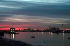 Rzeczny Thames, Woolwich obraz royalty free