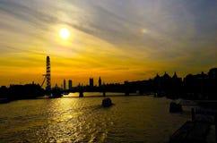 Rzeczny Thames zmierzch Zdjęcia Stock