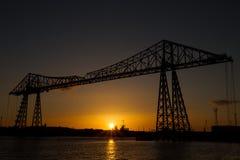 Rzeczny trójnika transporteru most Zdjęcie Royalty Free