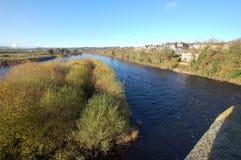 Rzeczny Tyne od Corbridge mosta Zdjęcia Stock