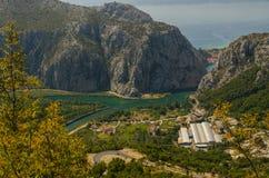 Rzeczny wąwóz w Chorwacja zdjęcia royalty free