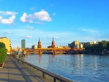 Rzeczny widok Berlin, Niemcy, Europa Fotografia Royalty Free