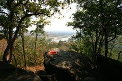 Rzeczny widok od wzgórza Fotografia Stock
