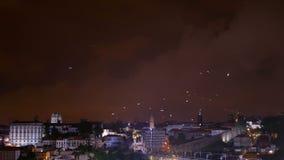 Rzeczny widoku ptaka miasto zbiory wideo