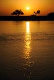 Rzeczny wschód słońca zdjęcie stock