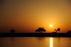Rzeczny wschód słońca zdjęcie royalty free