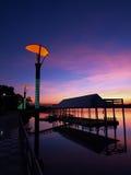 Rzeczny wschód słońca Fotografia Royalty Free