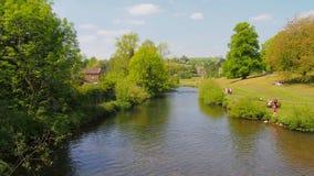 Rzeczny Wye w Bakewell w Derbyshire, Anglia Obrazy Stock