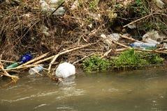 Rzeczny zanieczyszczenie Obrazy Stock
