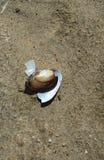 Rzeczny zlew w piasku łamający Fotografia Royalty Free