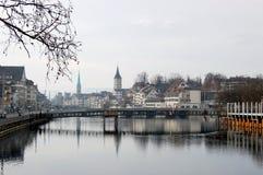 rzeczny Zurich Obraz Royalty Free