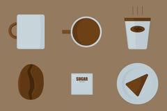 Rzeczy znajdować w sklep z kawą, kawiarni/ Fotografia Royalty Free