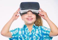 Rzeczywistości Wirtualnej pojęcie Wirtualna edukacja dla szkolnego ucznia E wjazd zdjęcia royalty free