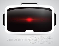 Rzeczywistość wirtualna szkła royalty ilustracja