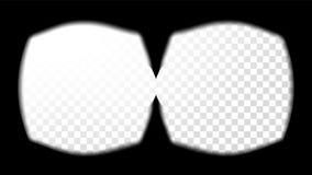 Rzeczywistość Wirtualna szkieł widoku Celowniczy wektor Stereoskopowy Parawanowej ramy szablon Technologia projekta 3D VR pojęcie ilustracji