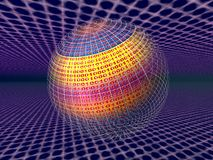 rzeczywistości serwery wirtualnymi danych ilustracji