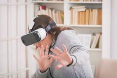 Rzeczywistości wirtualnej słuchawki Fotografia Stock