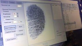 Rzeczywisty odcisk palca czujnik zdjęcie wideo