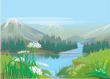 rzeka ilustracji