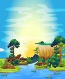 Rzeka royalty ilustracja