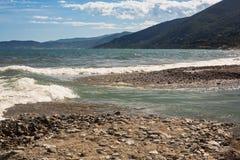 rzeka bieżący morza Obrazy Stock