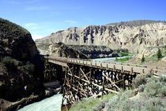 rzeka bridge Zdjęcie Royalty Free