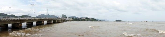 rzeka bridge Fotografia Stock