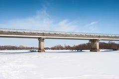 rzeka bridge Obrazy Royalty Free
