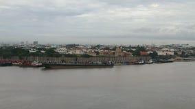 Rzeka, forteca i miasto, Santo Domingo, republika dominikańska zbiory wideo