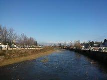 Rzeka i góry Zdjęcia Royalty Free