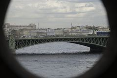 Rzeka i most Zdjęcia Royalty Free