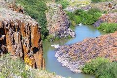 Rzeka i skała Zdjęcie Royalty Free