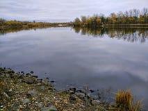 Rzeka, jesień Obraz Royalty Free