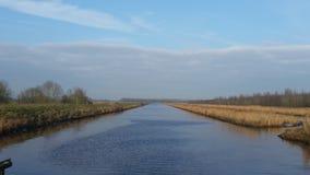 Rzeka, kanał, krajobraz, zdjęcia royalty free