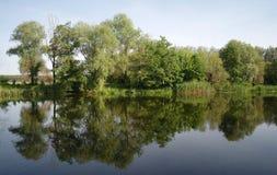 Rzeka krajobraz. fotografia royalty free