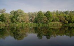 Rzeka krajobraz. fotografia stock