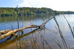 Rzeka krajobraz Zdjęcie Stock