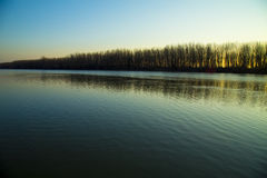 Rzeka krajobraz zdjęcia stock