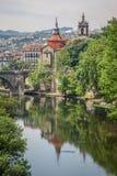 Rzeka krajobraz Zdjęcia Royalty Free