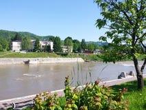 Rzeka krajobraz Fotografia Royalty Free