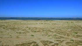 Rzeka krajobrazu jasnego letni dzień Angara rzeka Wschodni Syberia Obrazy Royalty Free