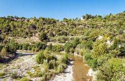 Rzeka Lagrasse Zdjęcia Royalty Free
