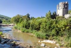 Rzeka Lagrasse Obrazy Stock