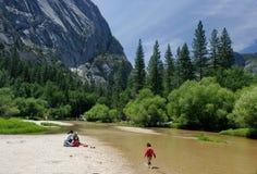rzeka merced Yosemite Zdjęcie Royalty Free